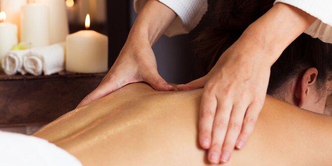 Masáž chrbta a šije, celých dolných končatín alebo chodidiel