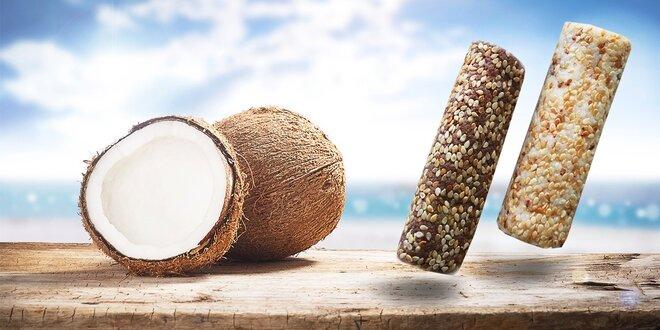 Kokosové bezlepkové tyčinky so sezamom a slnečnicou alebo s kakaom