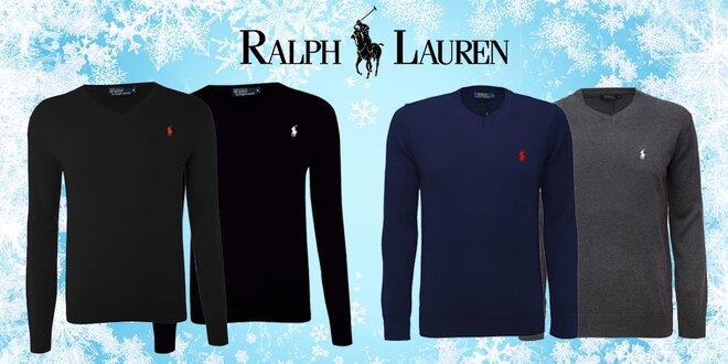 Pánské svetre Ralph Lauren s véčkovým výstrihom