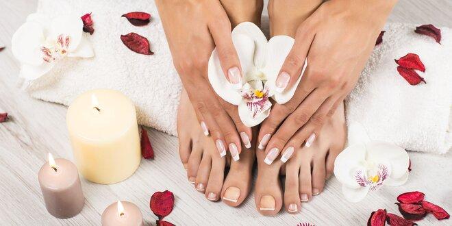 Mokrá pedikúra s masážou nôh a možnosťou lakovania gellakom