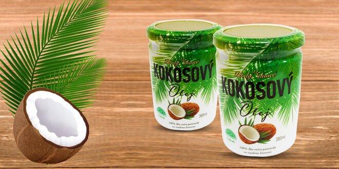 380 ml 100 % bio extra panenský za studena lisovaný kokosový olej
