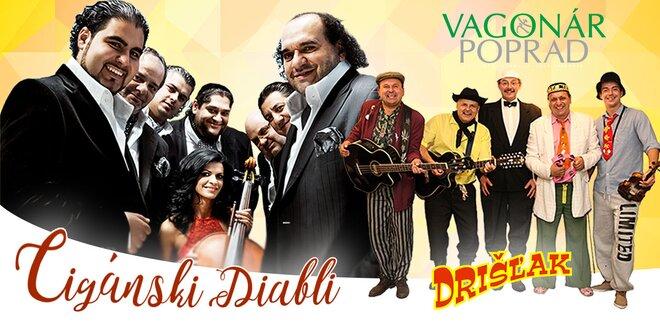 Vstupenka na koncert VIANOČNÉ TRIO! Cigánski diabli, Drišľak a Vagonár