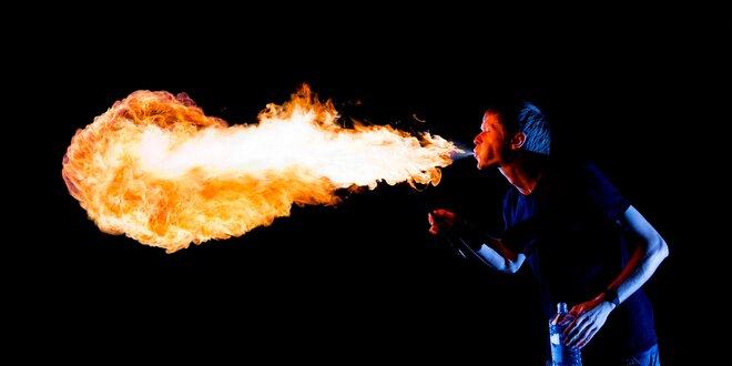 Kurz pľutia ohňa - horúca adrenalínová skúsenosť!