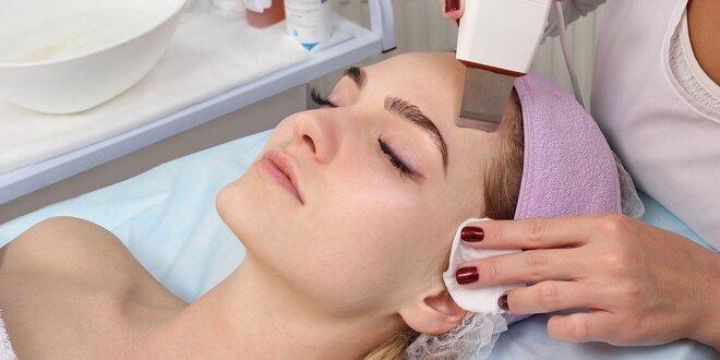 Hĺbkové, ultrazvukové,vybieľujúce alebo omladzujúce ošetrenie pleti