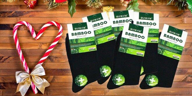 Kvalitné bambusové čierne ponožky - 5 alebo 10 párov!