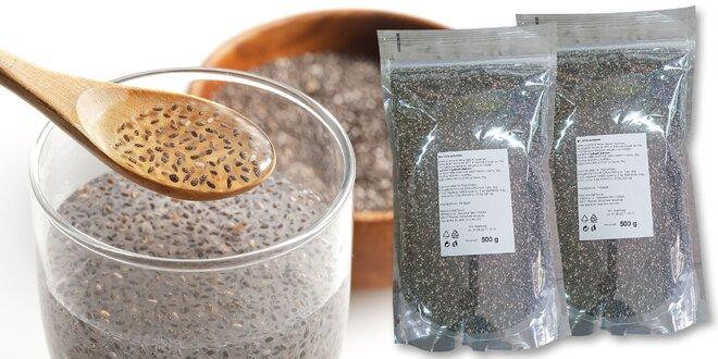 Dostaňte svoje telo do formy a buďte fit! Chia semienka 500 g alebo 1000 g!