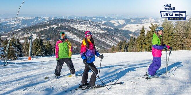 Celodenný alebo sezónny skipas VIP v Snowparadise Veľká Rača Oščadnica