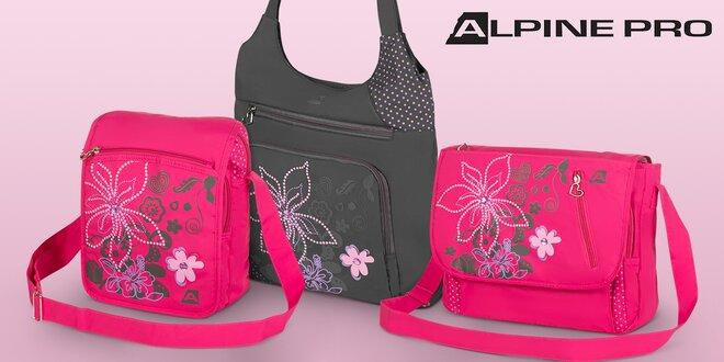 Dámske tašky a kabelky Alpine pro s kvetinovou potlačou