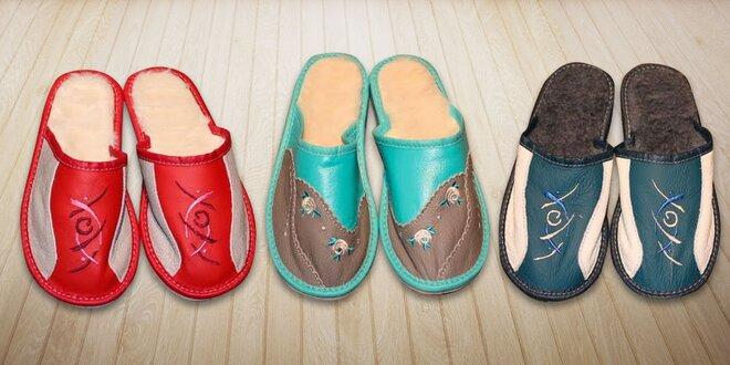 Pohodlné a mäkučké dámske papuče s ovčou vlnou