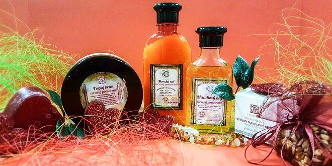 Luxusná prírodná kozmetika v darčekovom balení s vôňou červeného pomaranča