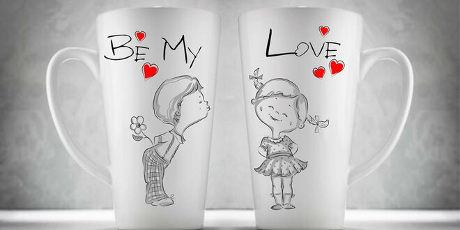 Výber setov valentínskych hrnčekov pre zamilované páry