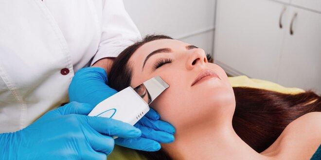 Hĺbkové čistenie pleti ultrazvukom a ozonizérom s úpravou obočia a možnosťou…