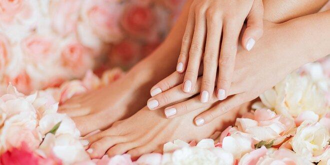 Klasická manikúra, gel lak alebo mokrá pedikúra