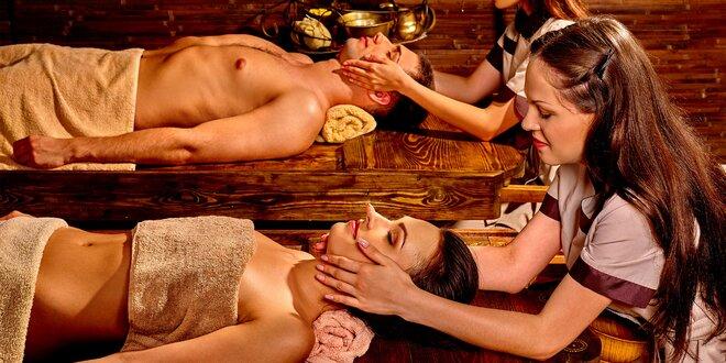 Ajurvédska masáž pre dvojice či synchrónna masáž dvomi terapeutmi