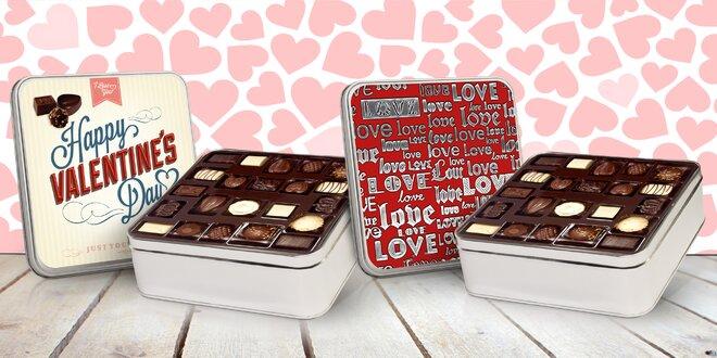 Belgické čokolády vo valentínskom balení