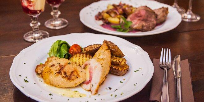 Romantické 2-chodové menu v Starom meste