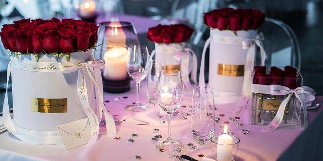 Valentínsky box ruží Swarovski od Le Diamant Rose