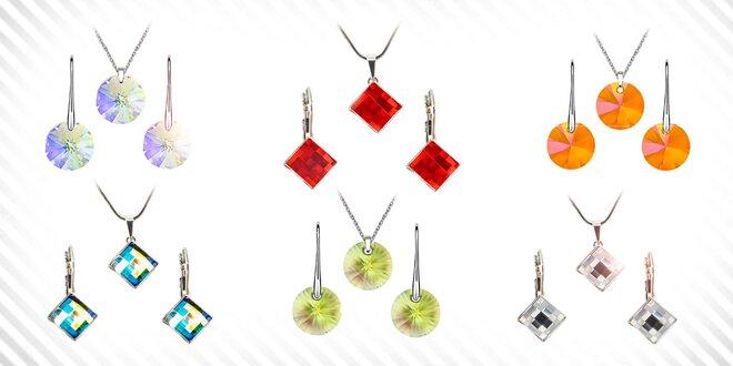 Šachovnicový set šperkov Swarovski