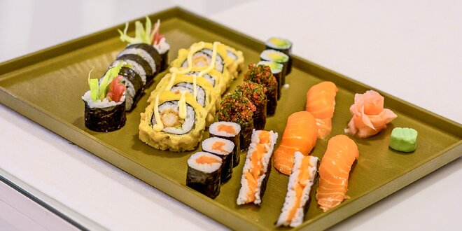 Sushi menu v Asean fast food