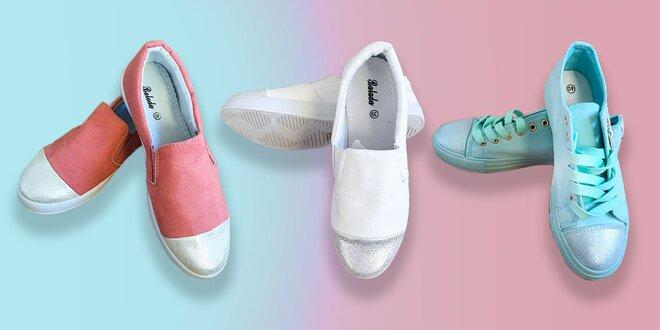 Dámske športové topánky pre veselšiu jar