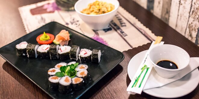 16 ks Sushi set s ryžovými rezancami