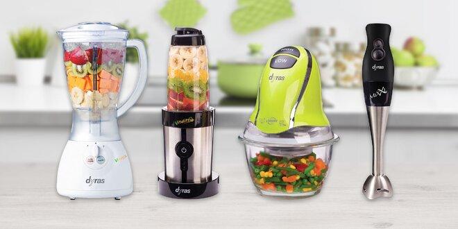 Kuchynské mixéry a krájač so sklenenou nádobou