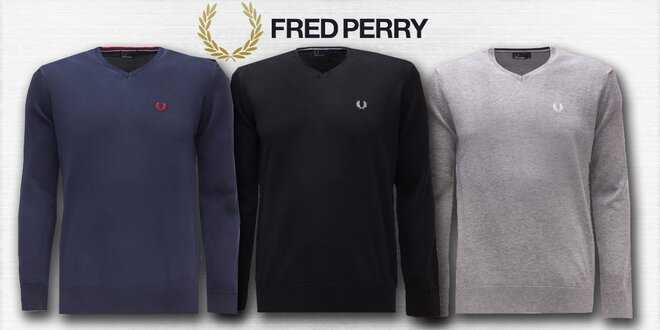 Pánske pohodlné svetre značky Fred Perry