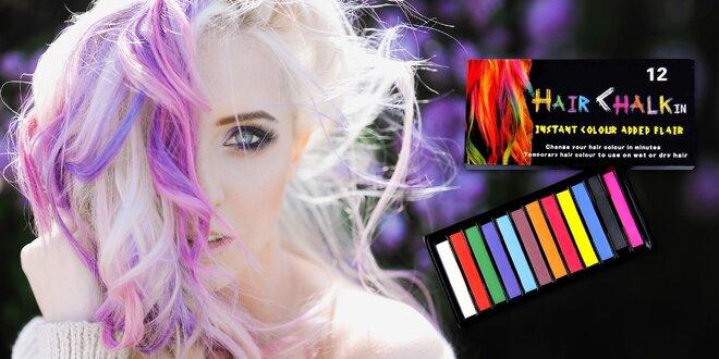 Farebné kriedy na vlasy: zábava pre malých i veľkých