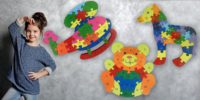 Drevené puzzle pre najmenších
