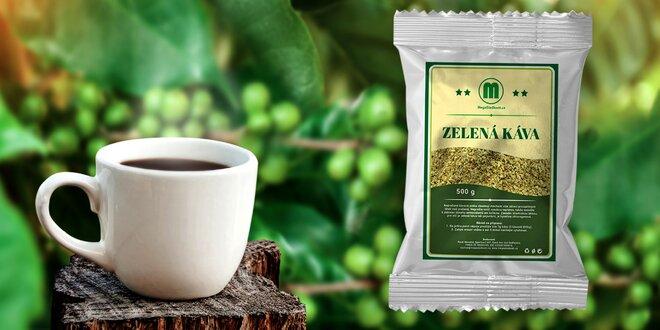 Zelená pre vašu energiu: mletá nepražené káva