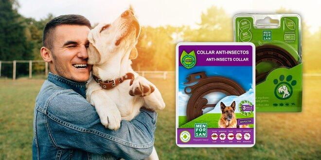 Prírodný antiparazitný obojok pre psov