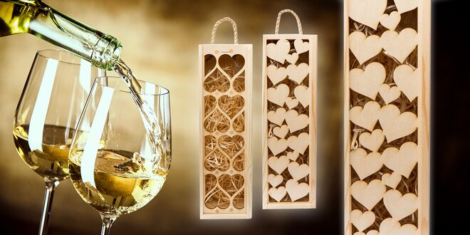 Srdiečkové krabičky na víno