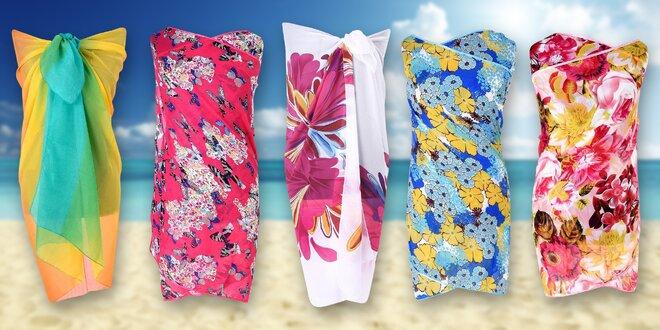 Vzdušné plážové šatky na plavky i miesto šiat