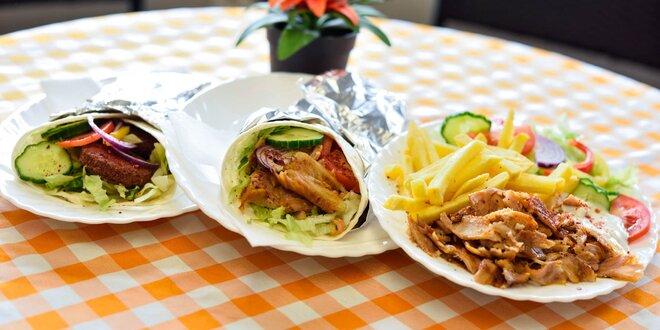 Kurací kebab alebo vegetariánsky falafel
