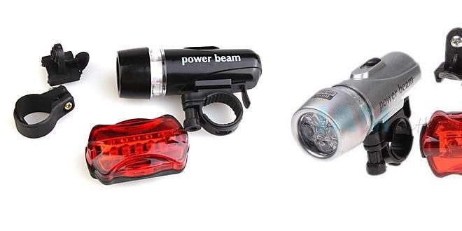 Power beam - sada svetiel na bicykel