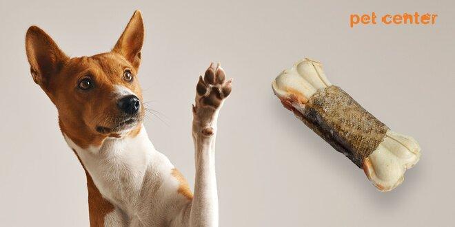 Delikatesa pre psíkov! Kosť s kuracím mäsom
