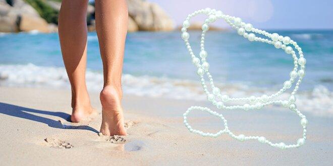 Perlová ozdoba na nohu