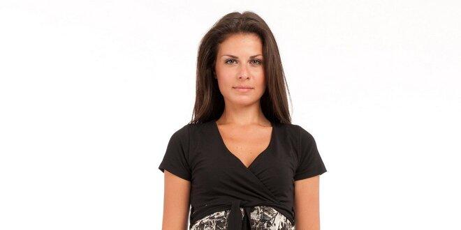 0c9dcac08544 Dámske čierno-biele šaty Conquista s potlačou