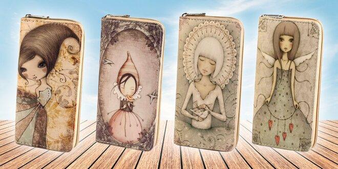 Dámska peňaženka s VINTAGE obrázkom