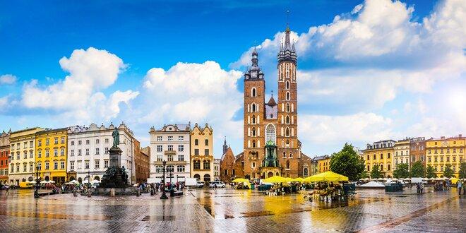 Pobyt v romantickom Krakowe pre dvoch