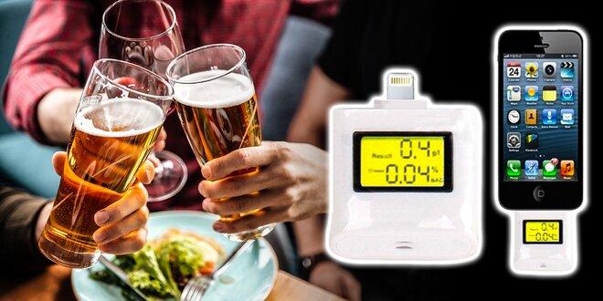 Alkohol tester s lightning konektorom pre iPhone a iPad