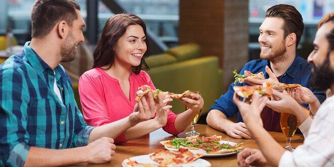 Skvelá XL pizza pre dvoch v Auparku