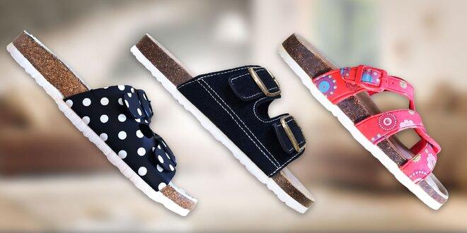 Dámske korkové papuče Samlux