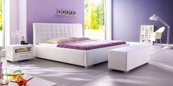 Moderné koženkové a látkové postele