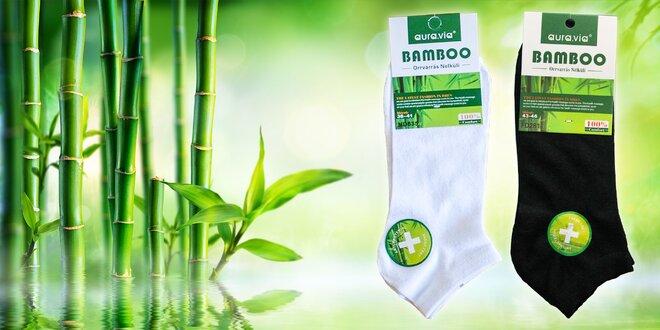 Členkové bambusové ponožky: 5 alebo 10 párov!