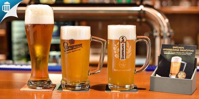 2 alebo 4 veľké pivá Staroprameň a nakladaný hermelín