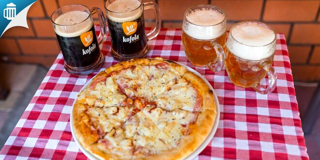 Skvelá chrumkavá pizza s pivom alebo Kofolou