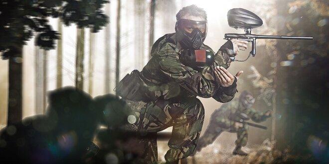 Adrenalínový paintball v Galante aj s výzbrojou
