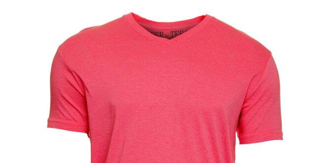 1a6e9c54d3e0 Pánske ružové melírované tričko Chaser