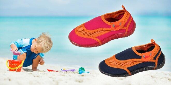 Plážové značkové topánočky pre deti do vody